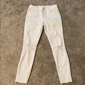 PacSun white ripped jeans